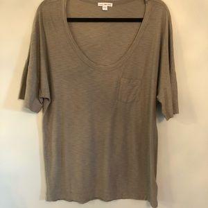 James Perse Green/Grey Pocket Tee Shirt